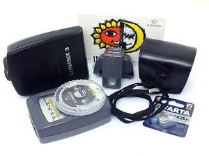 ✮ Gossen Lunasix 3 Belichtungsmesser mit Teleaufsatz & Tasche // vom Händler!
