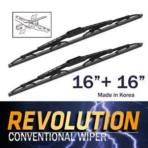 "REVOLUTION 16"" + 16"" Metal Frame Wiper Blades for Kia Ceres TRUCK 1992~2000"