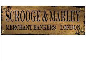 Charles Dickens Scrooge Christmas Carol Vintage Style Metal Sign Christmas