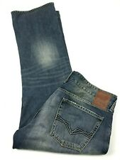 Guess Mens Falcon Regular Boot Cut Jeans Patchwork Button Fly Size 40x31