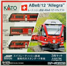 More details for kato n scale rhatische bahn (rhb) abe 8/12 (allegra) 3 car set 10-1273 uk stock