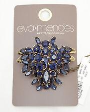 Elegant New Eva Mendes Deep Blue Rhinestone Brooch from New York & Co. #EVA2