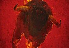 Rotgans, Monica Mulato 5 Stier Gemälde Druck Grösse 100x70 Kunstdruck Artprint
