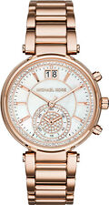 *NEW* MICHAEL KORS MK6282 LADIES ROSE GOLD SAWYER WATCH - 2 YEARS WARRANTY
