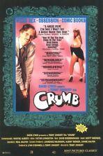 1995 POSTER ~ ROBERT CRUMB The MOVIE~ DAVID LYNCH Rolled  40 X 27 ZAP COMIX