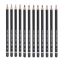 12 pièces crayons de croquis professionnels dessin fournitures d'art de