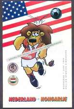 Programme Soccer Friendly Match Netherlands vs Hungary 1994