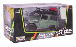 1:24 Scale Toyota FJ40 Land Cruiser Off Road Motor Max Diecast #79137