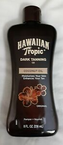 Hawiian Tropic Dark Tanning Coconut Oil| 8 Fl. Oz. | Free Shipping to the USA