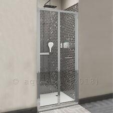 900mm Bi-Fold Bifold Chrome Shower Enclosure Sliding Door Screen Glass