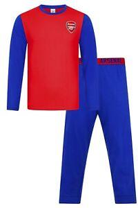 Mens Arsenal Football Club Long Pyjamas Premier League PJs Arsenal FC Pyjama PJ