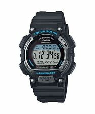 Stl-s300h-1a Black Casio Unisex Watches LED Solar Sport Lap Memory 100 100m