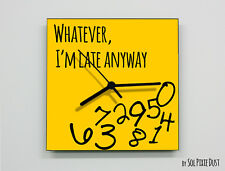 Whatever I'm Late Anyway / Square Yellow - Wall Clock