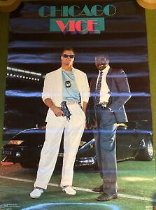 "ORIGINAL! 1987 JIM MCMAHON WALTER PAYTON ""CHICAGO VICE"" BEARS POSTER COSTACOS"