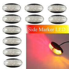10x 4 LED Trailer Caravan Truck Marker Amber Red Clearance Lamp Light Indicator