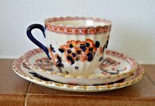 Crown Devon Indian cup & saucer and dessert plate trio with diamond marks