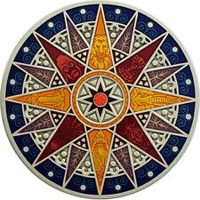 Compass Rose Geocoin 2012, Kalahari, Antique Silver, Unactivated