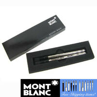 Montblanc 2 Rollerball Refills [105158] Medium Point Mystery Black Pen Cartridge