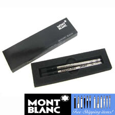Montblanc 2 Rollerball Refills [105158] Medium Point Mystery Black Pen Cartridge