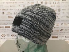 BENCH Thin Ribbed Beanie Men's Basic Logo Hat Turn-up Mix Black Skull Cap BNWT