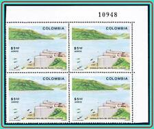 COLOMBIA 1979 HYDROELECTRIC STATION block of 4 SC#C676 MNH