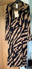 Penny Black For Max Mara Zebra Stripe Dress. Bnwt. 16.