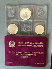 Trittico Fdc  500 Lire 200 e 100 anno 1988  Argento - Università Bologna Gr. 24