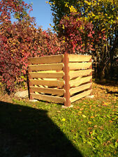 MENOVUS XXL Komposter Rostdesign Stahlpfosten inkl. Holz 1530 Liter