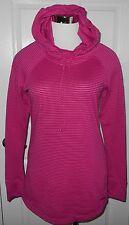 Reebok = Light Weight Pullover Hoodie - Running Shirt - Pink Stripe = Women's M