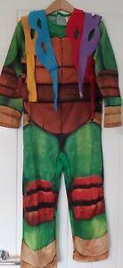 Boys Teenage Mutant Ninja Turtles Costume Age 5-6 Halloween FANCY DRESS