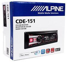 Alpine CDE-151 Car Stereo CD USB MP3 Receiver Radio w/ Pandora+iPod Control