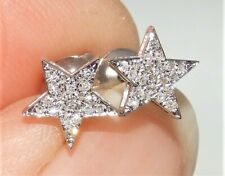 18CT WHITE GOLD 0.1CT DIAMOND STAR CLUSTER STUD EARRINGS