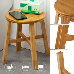 Bamboo Bench Round Shape Stool Wood Bathroom Shower Chair Spa Bath Sauna