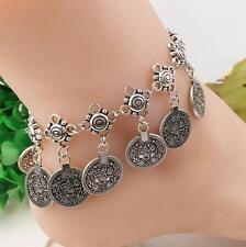 Women Fashion Silver  Rhinestone Bracelet Bangle Party Jewelry Hallow Unisex