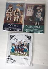 Doll Clothes Patterns 17-19 inch Uncut Indygo Junction Sew Scout Uniform Lot 3