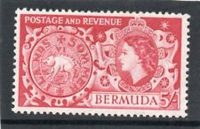 Bermuda QE2 1953 5s. carmine sg 148 LH.Mint