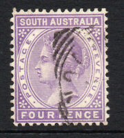 South Australia 4 Pence Stamp c1883-99 Used (2892)