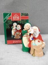 Hallmark Keepsake Ornament - Mr. and Mrs. Claus Series - Checking His List, 1991