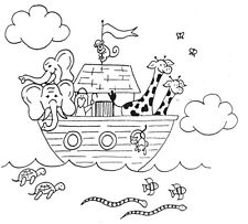 Unmounted Rubber Stamp, Christian Stamps, Bible, Noah's Ark, Biblical, Religious