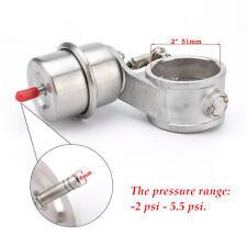"Open Full 304 Stainless steel Vacuum Exhaust Muffler Valve 2"" 51mm pipe Actuator"