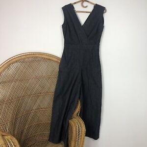 COS Jumpsuit One Piece Blue Cotton V Neck Size EU36 S 10 Denim