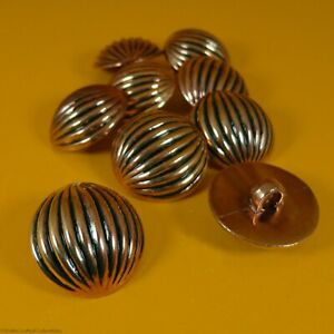 Antique Gold Dome Plastic Buttons - Shank Buttons (9 per bag) (21mm x 7mm)