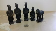 5 inch Terracotta Army figures and horse