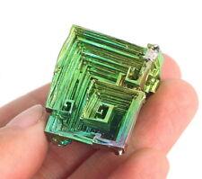 145.9Ct Rainbow Bismuth Crystal Mineral Specimen Rough Heated YBK42