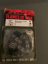 FLAMES OF WAR US 3rd Infantry Division Italian Campaign TOKEN SET Rare TK018