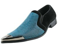 Men's Dress Shoes, Sparkling Loafers for Men - Rhinestone Smoking Slippers