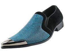 Bolano Rhinestone Embellished Vamp & Faux Suede Trim Smoking Shoe : Style Dezzy