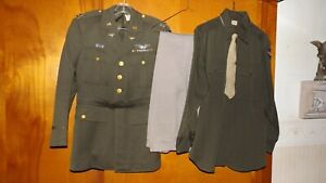 US WW2  Army Air Corps Pilot's Uniform Jacket, Trousers, Shirt and Tie
