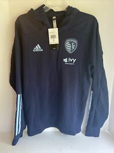 adidas Sporting Kansas City Players Jacket Mens Size M FI1429 NWT $75