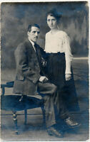 Young Couple Real Photo Postcard rppc